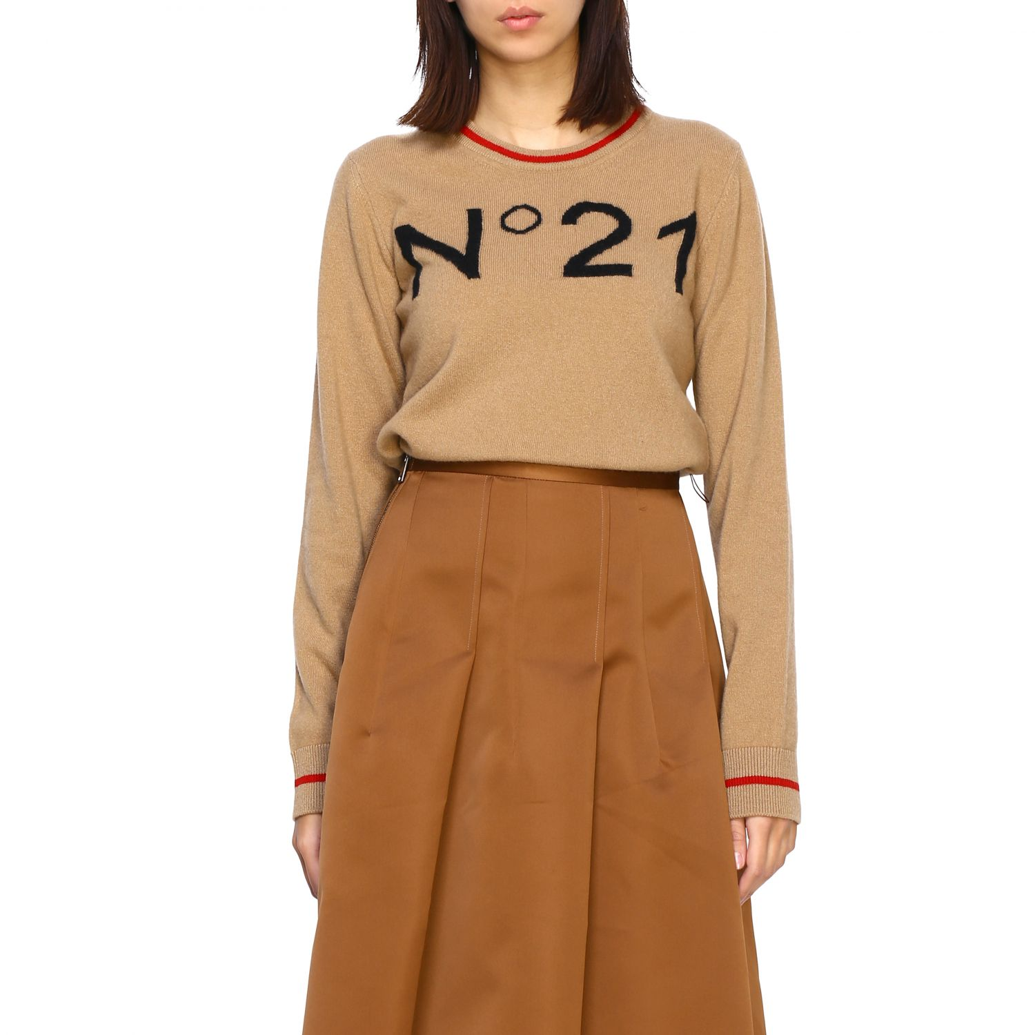 Jersey N° 21: Jersey mujer N° 21 camello 1