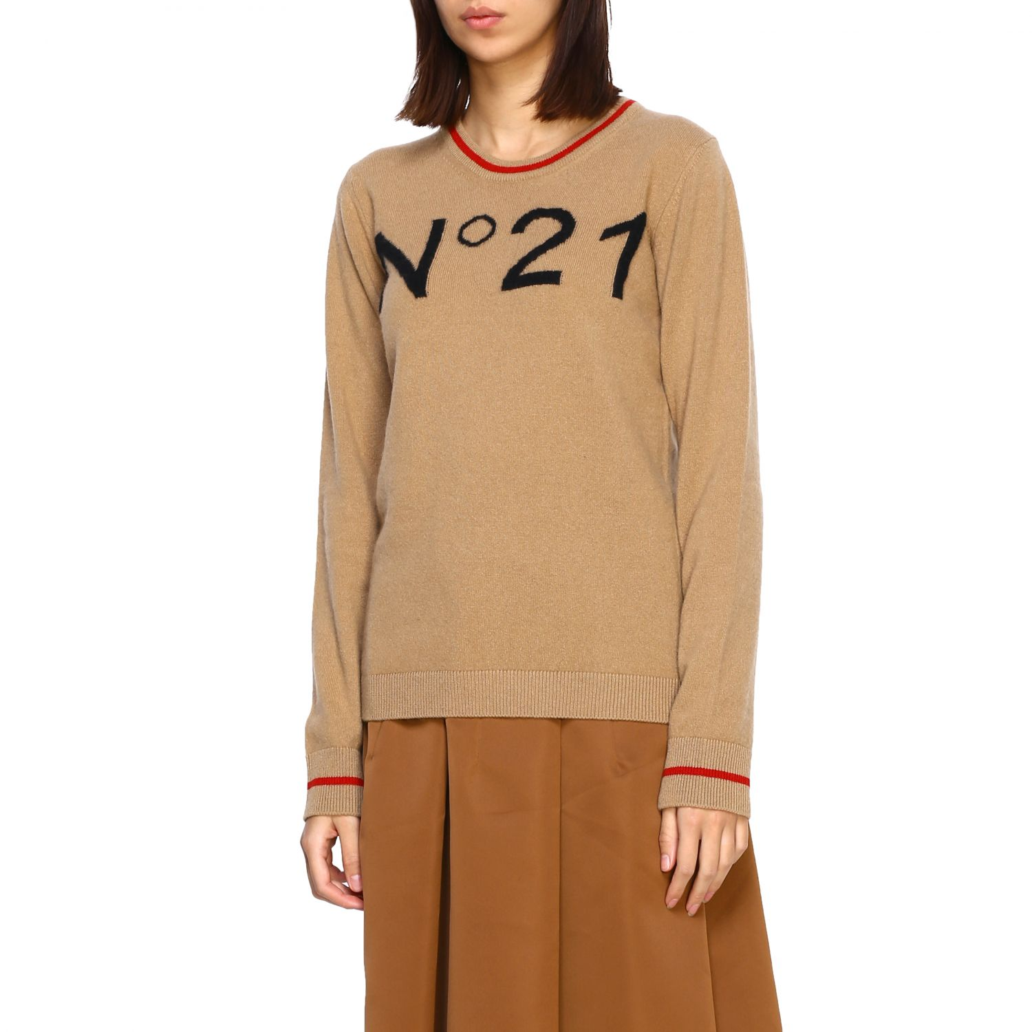 Jersey N° 21: Jersey mujer N° 21 camello 4