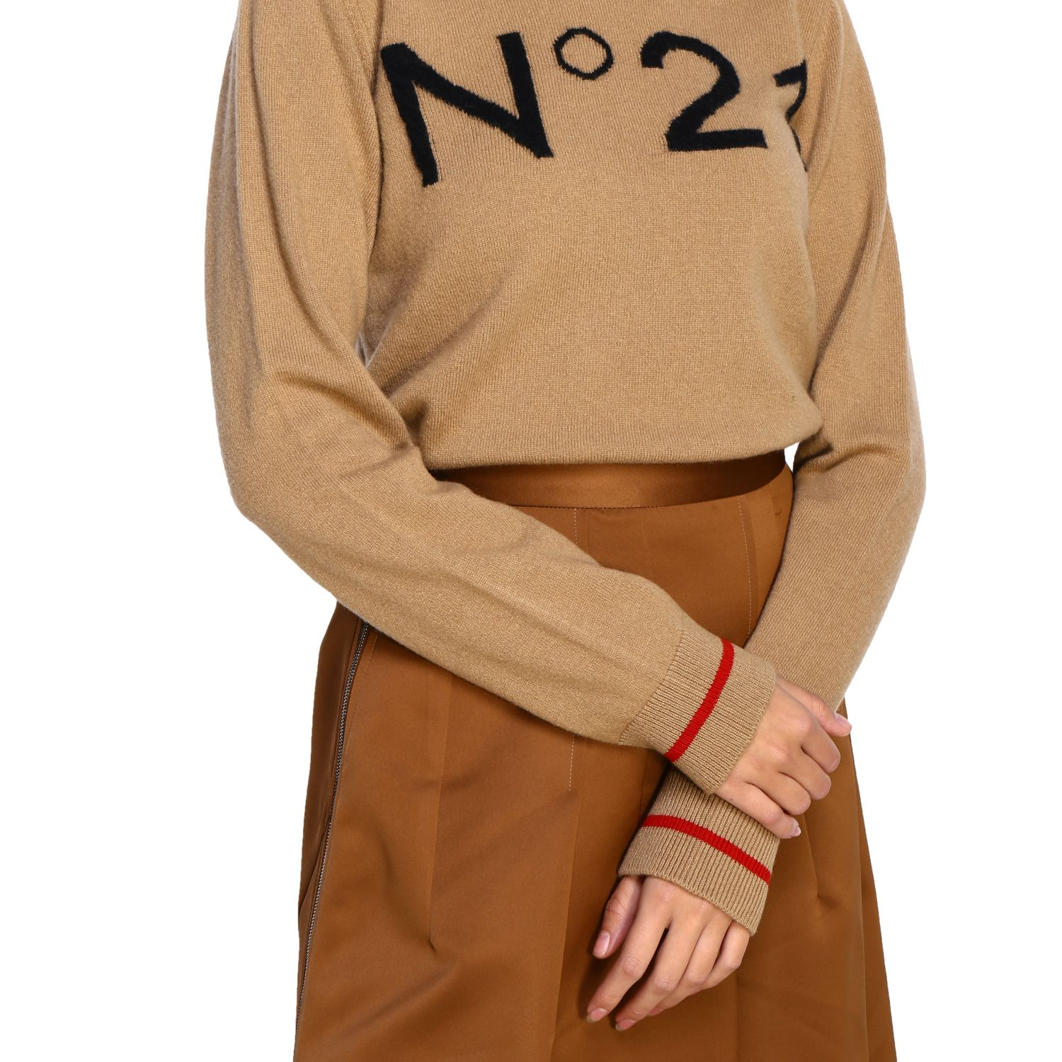 Jersey N° 21: Jersey mujer N° 21 camello 5