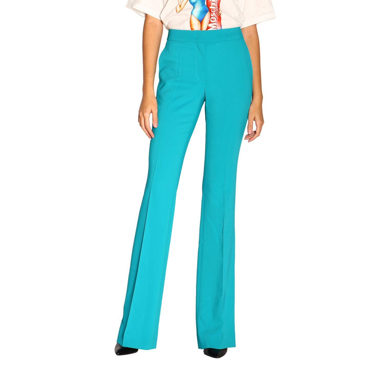 Pantalone donna Moschino Couture turchese 1