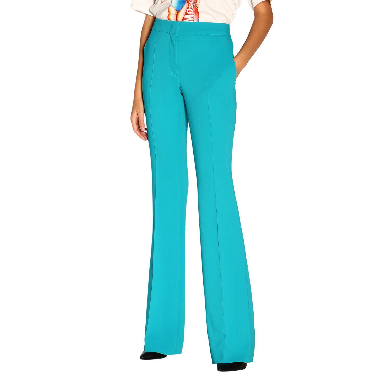 Pantalone donna Moschino Couture turchese 3