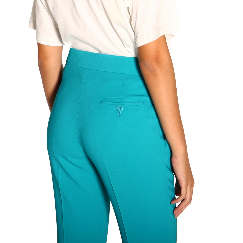 Pantalone donna Moschino Couture turchese 4