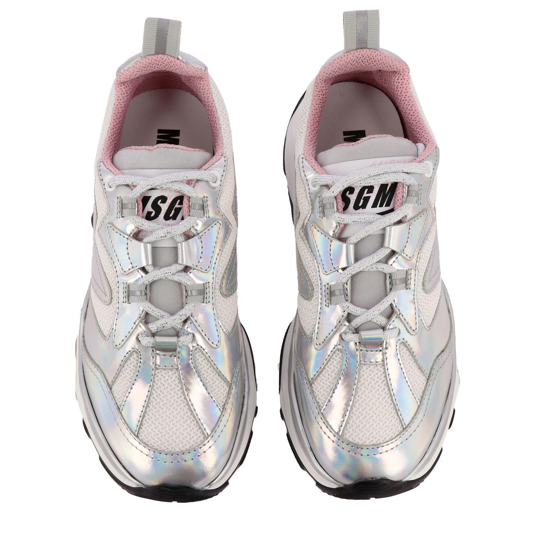 Спортивная обувь Женское Msgm серебро 3