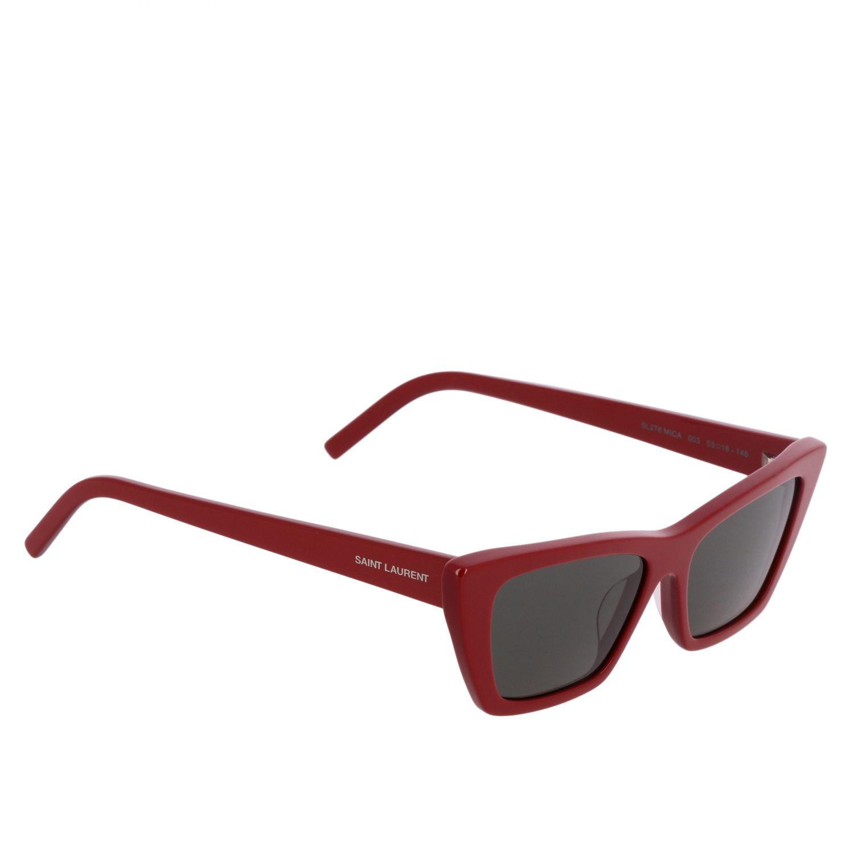 Brille Saint Laurent: Saint Laurent MICA Sonnenbrille aus Acetat Brücke 16 Stange 145 schwarz 1