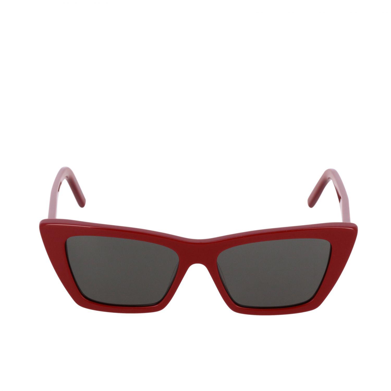 Brille Saint Laurent: Saint Laurent MICA Sonnenbrille aus Acetat Brücke 16 Stange 145 schwarz 2
