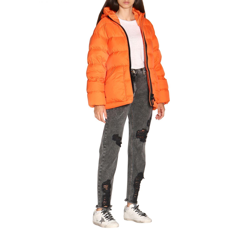 Manteau femme Ienki Ienki orange 2