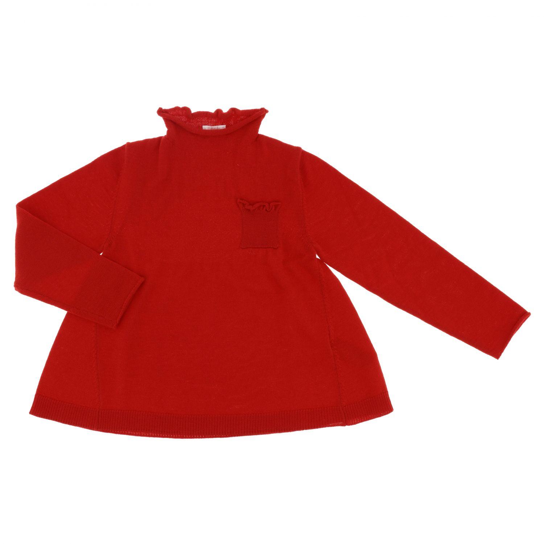 Sweater kids Il Gufo red 1