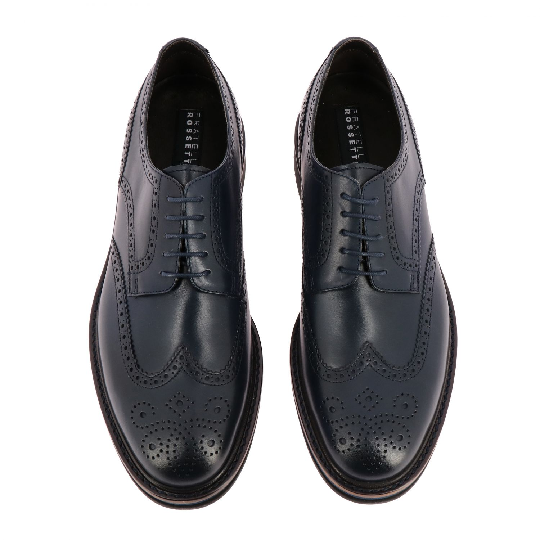 Brogue shoes men F.lli Rossetti marine 3