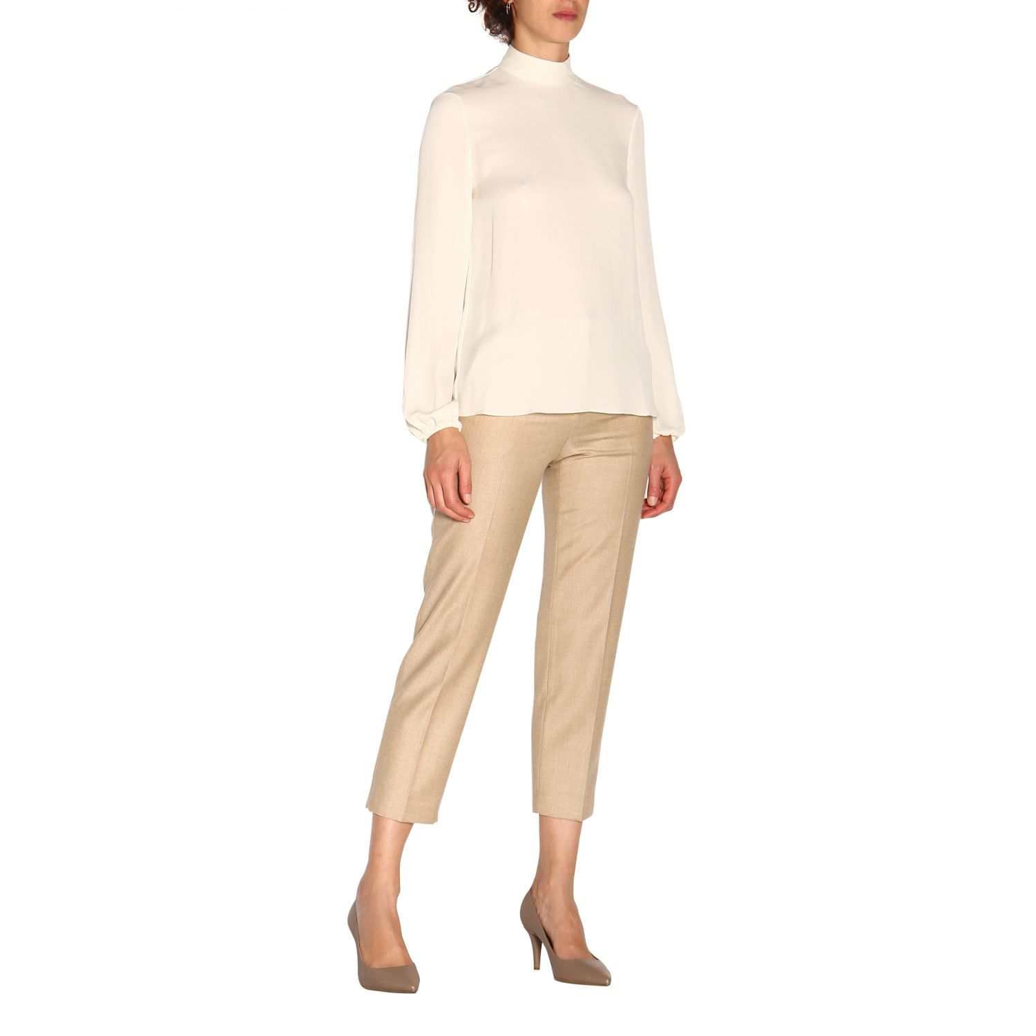 T-shirt women Theory ivory 2