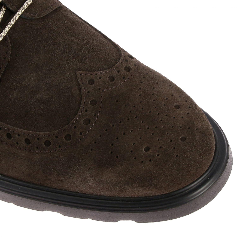Ботинки Hogan из замши с узором темный 4