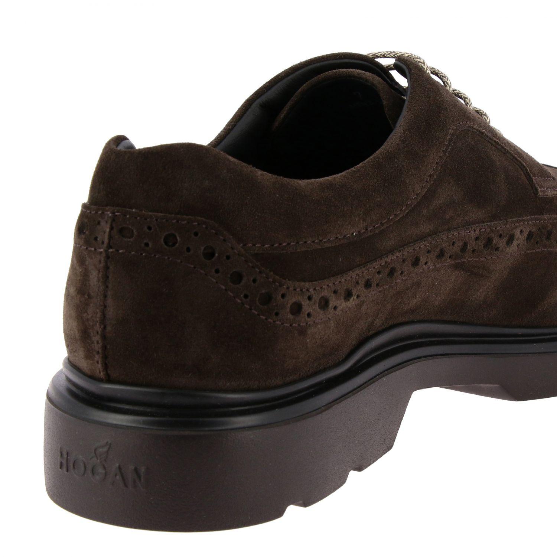 Ботинки Hogan из замши с узором темный 5