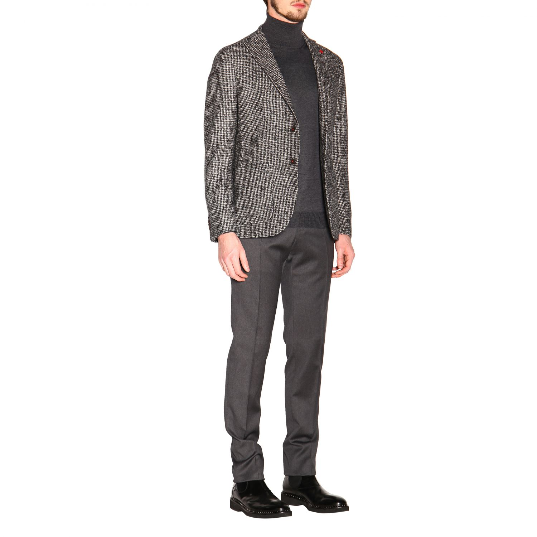 Pantalone uomo Incotex grigio 2