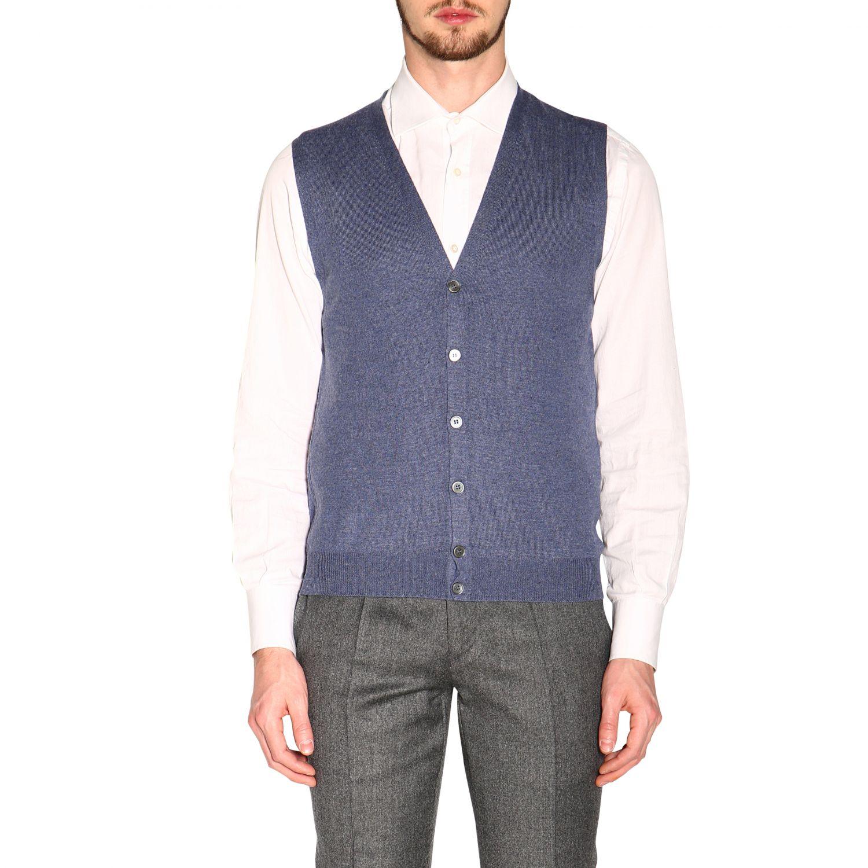 针织开衫 男士 Gran Sasso 浅蓝色 1