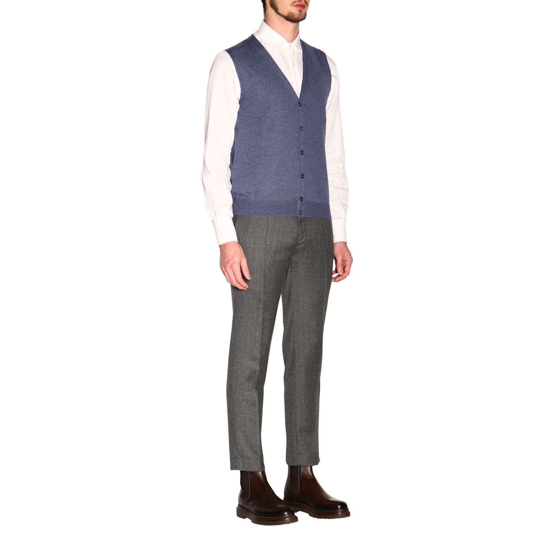 针织开衫 男士 Gran Sasso 浅蓝色 2