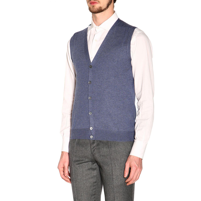 针织开衫 男士 Gran Sasso 浅蓝色 4