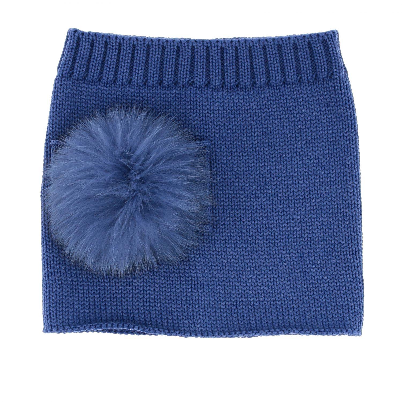 Collo Catya con maxi pompon blue 1