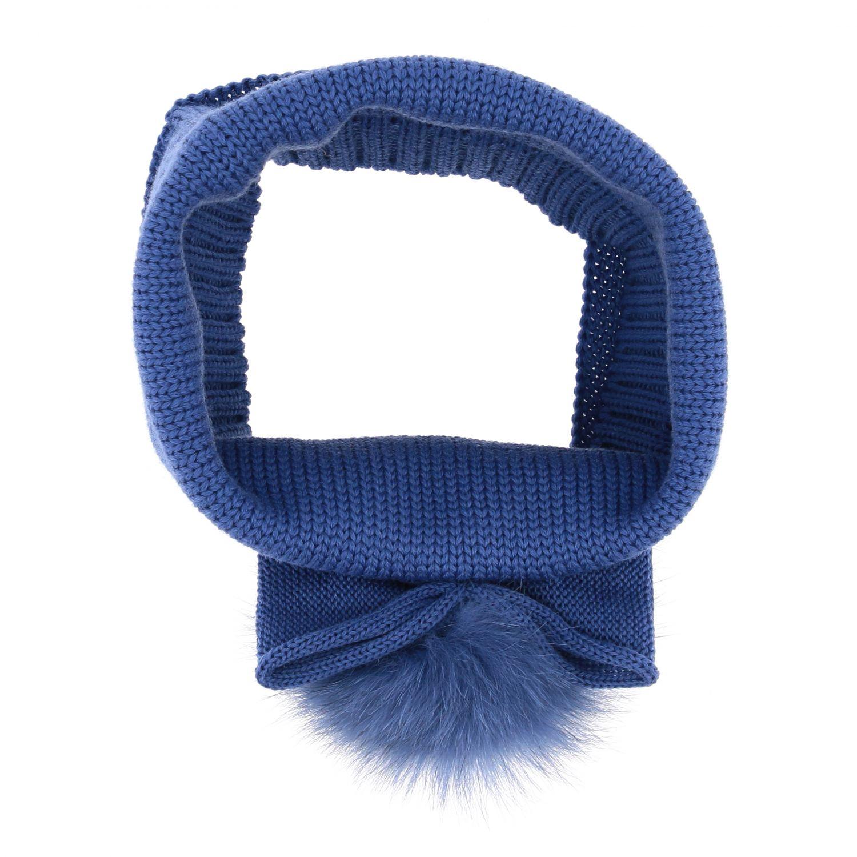 Collo Catya con maxi pompon blue 2