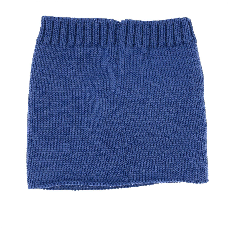 Collo Catya con maxi pompon blue 3