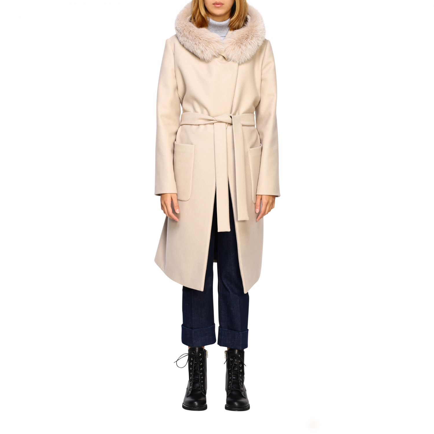 Coat women Fay yellow cream 1