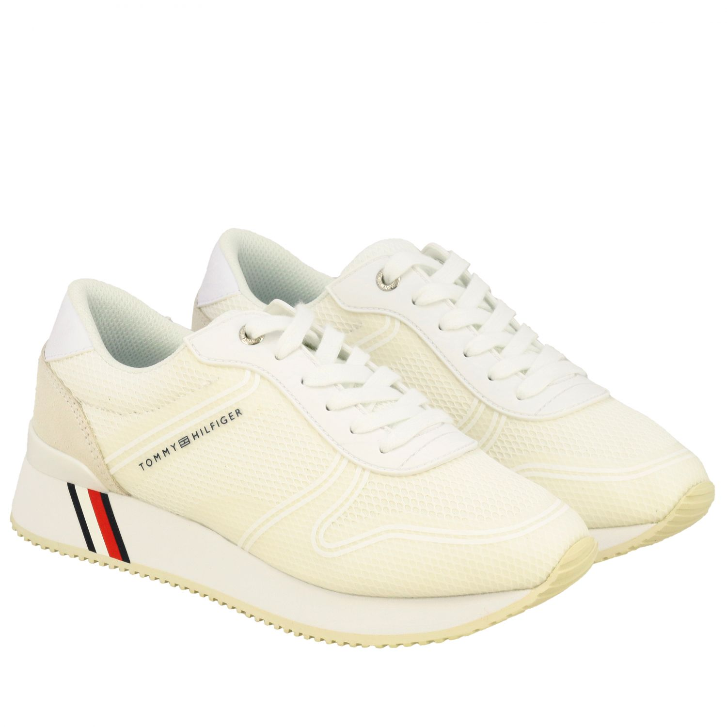 Sneakers donna Tommy Hilfiger bianco 2