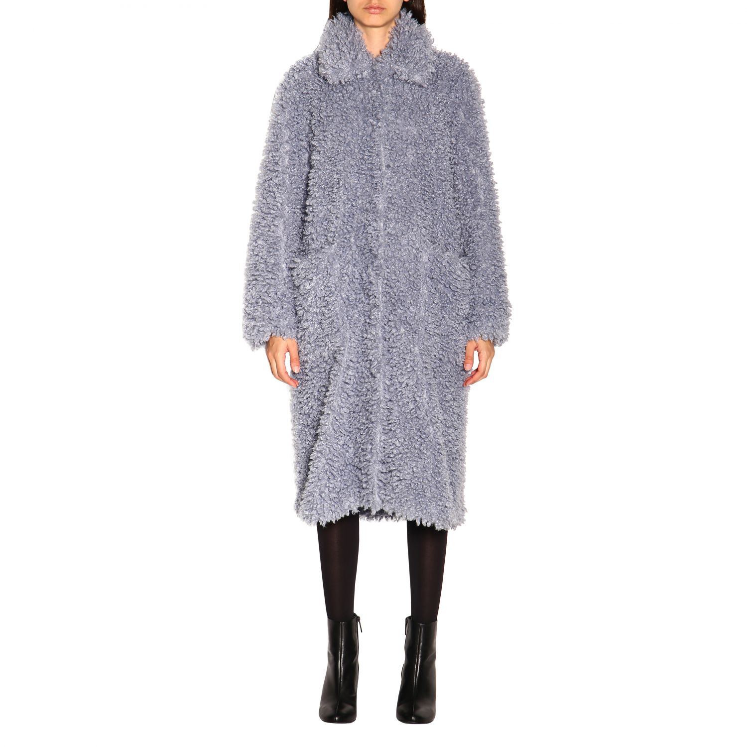 Coat women Stand blue 1