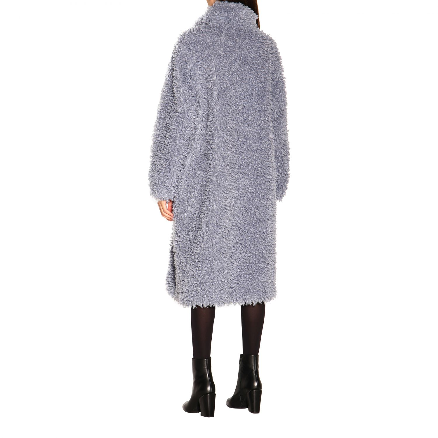 Coat women Stand blue 3