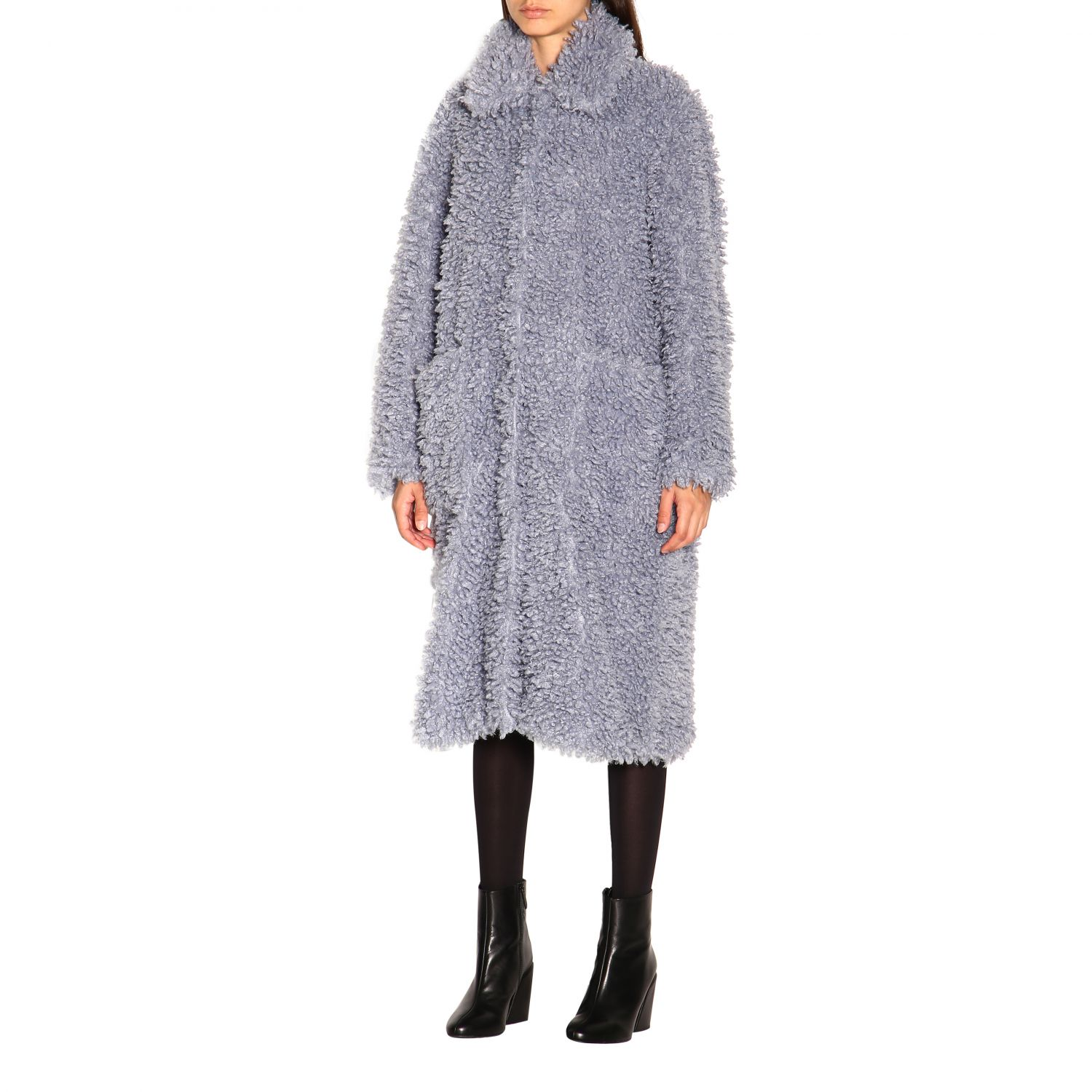 Coat women Stand blue 4