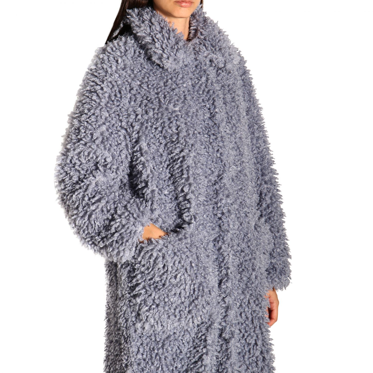 Coat women Stand blue 5
