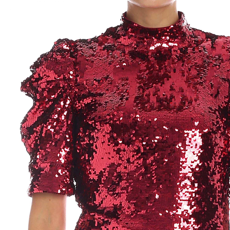 Dress Alice+Olivia: Dress women Alice+olivia burgundy 4