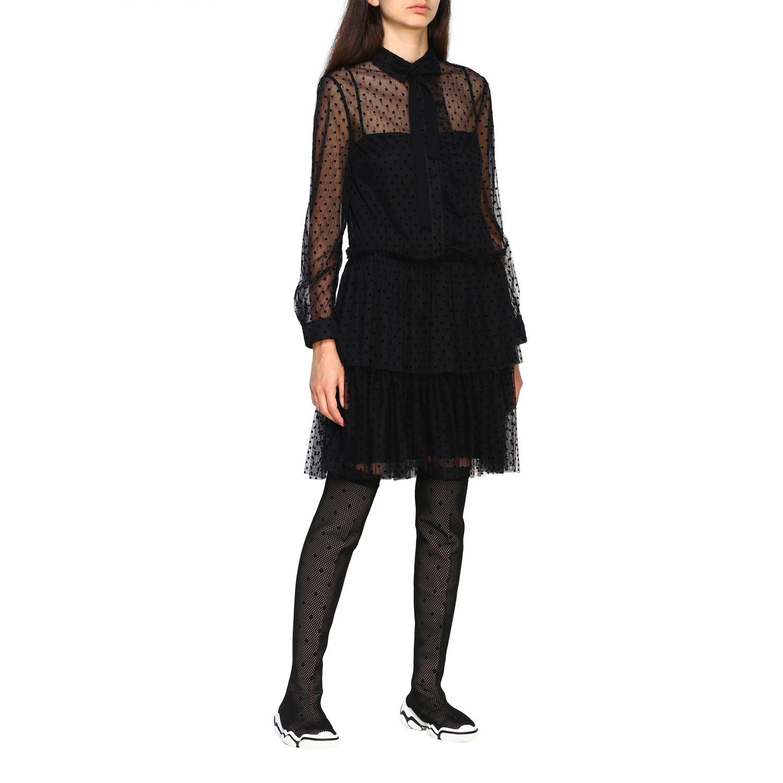 Vestido mujer Red Valentino negro 1