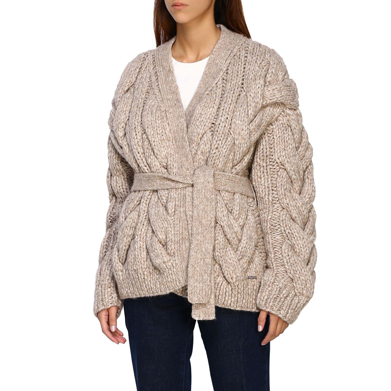 Cardigan Dsquared2: Sweater women Dsquared2 beige 4