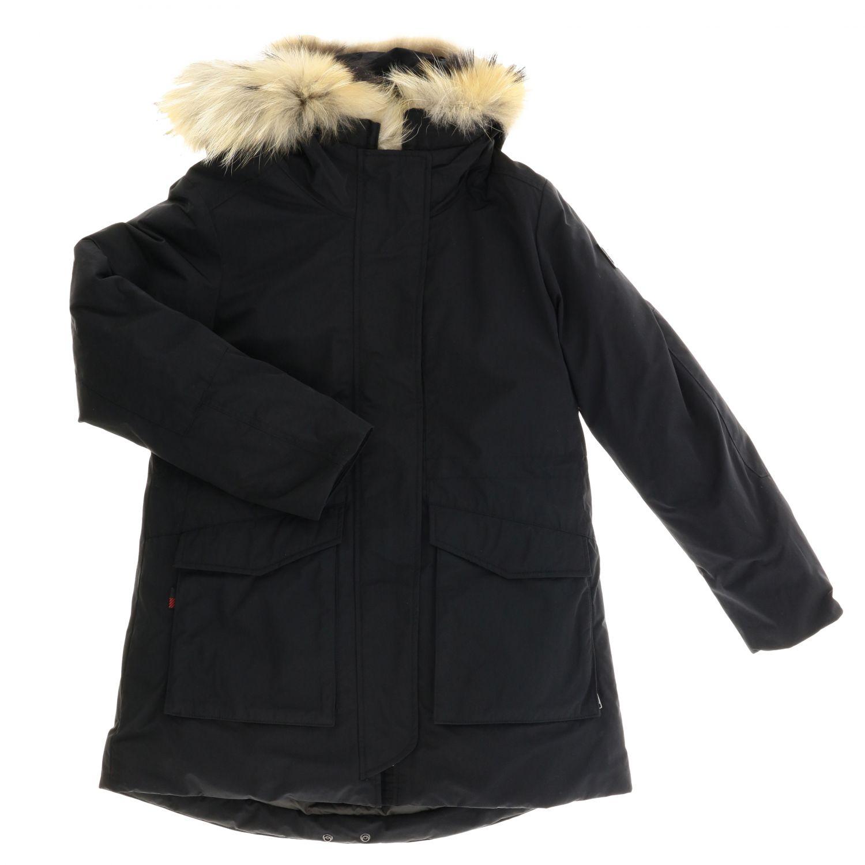 Manteau enfant Woolrich noir 1