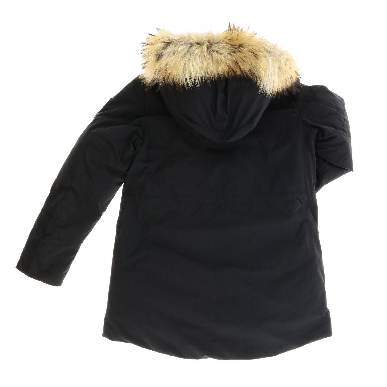 Manteau enfant Woolrich noir 2