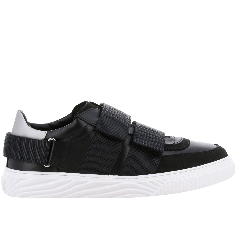 Hogan Sneakers aus Leder mit Schnallen und mehreren Riemen schwarz 1