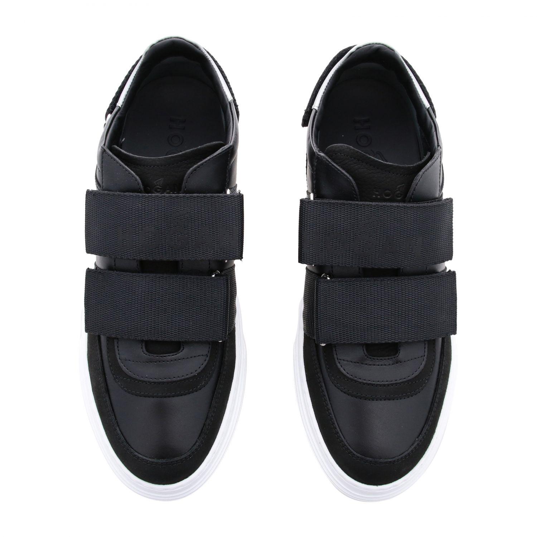 Hogan Sneakers aus Leder mit Schnallen und mehreren Riemen schwarz 3