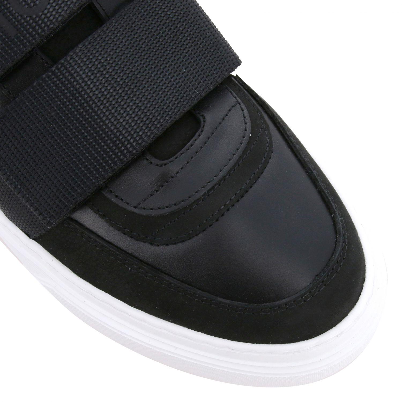 Hogan Sneakers aus Leder mit Schnallen und mehreren Riemen schwarz 4