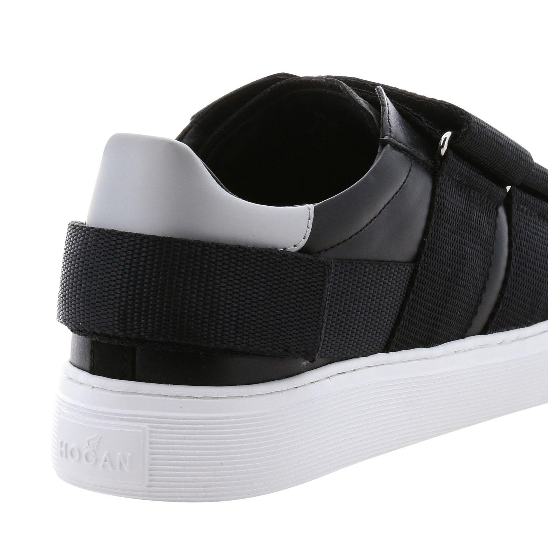 Hogan Sneakers aus Leder mit Schnallen und mehreren Riemen schwarz 5
