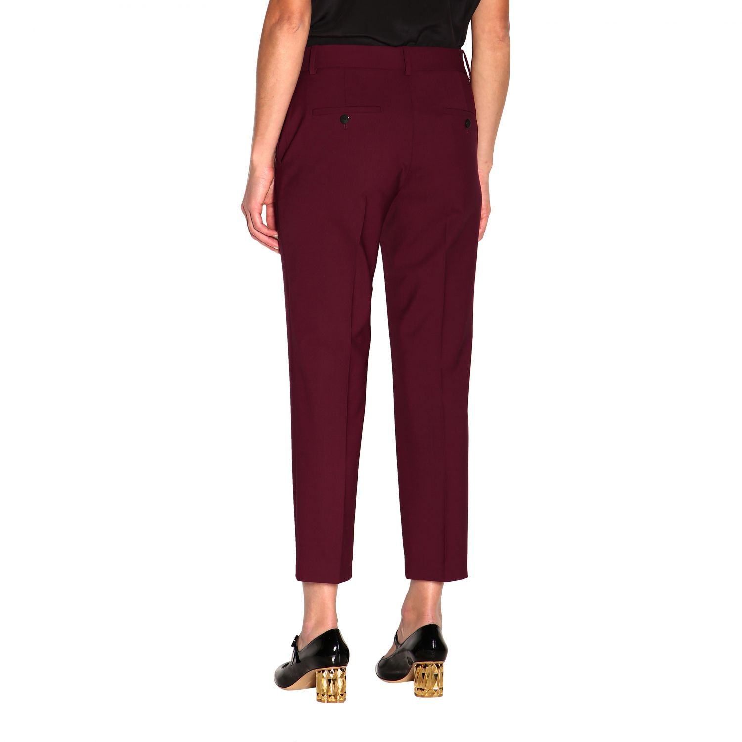 Trousers women Theory burgundy 3