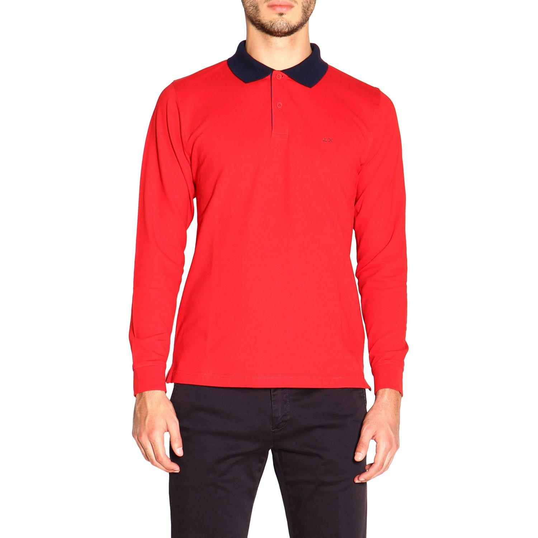 Camiseta hombre Sun 68 rojo 1