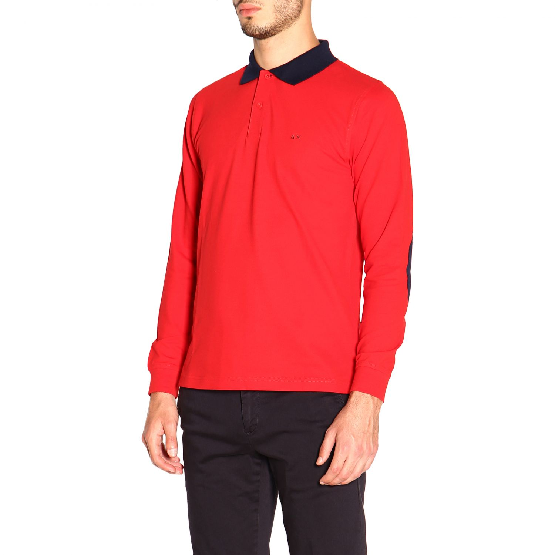 Camiseta hombre Sun 68 rojo 4