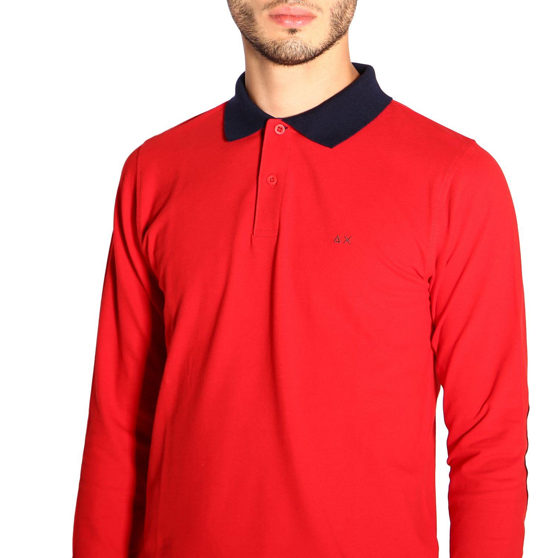 Camiseta hombre Sun 68 rojo 5
