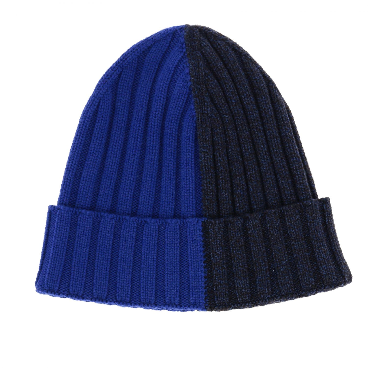 Cappello Woolrich effetto bicolor a coste blue 1