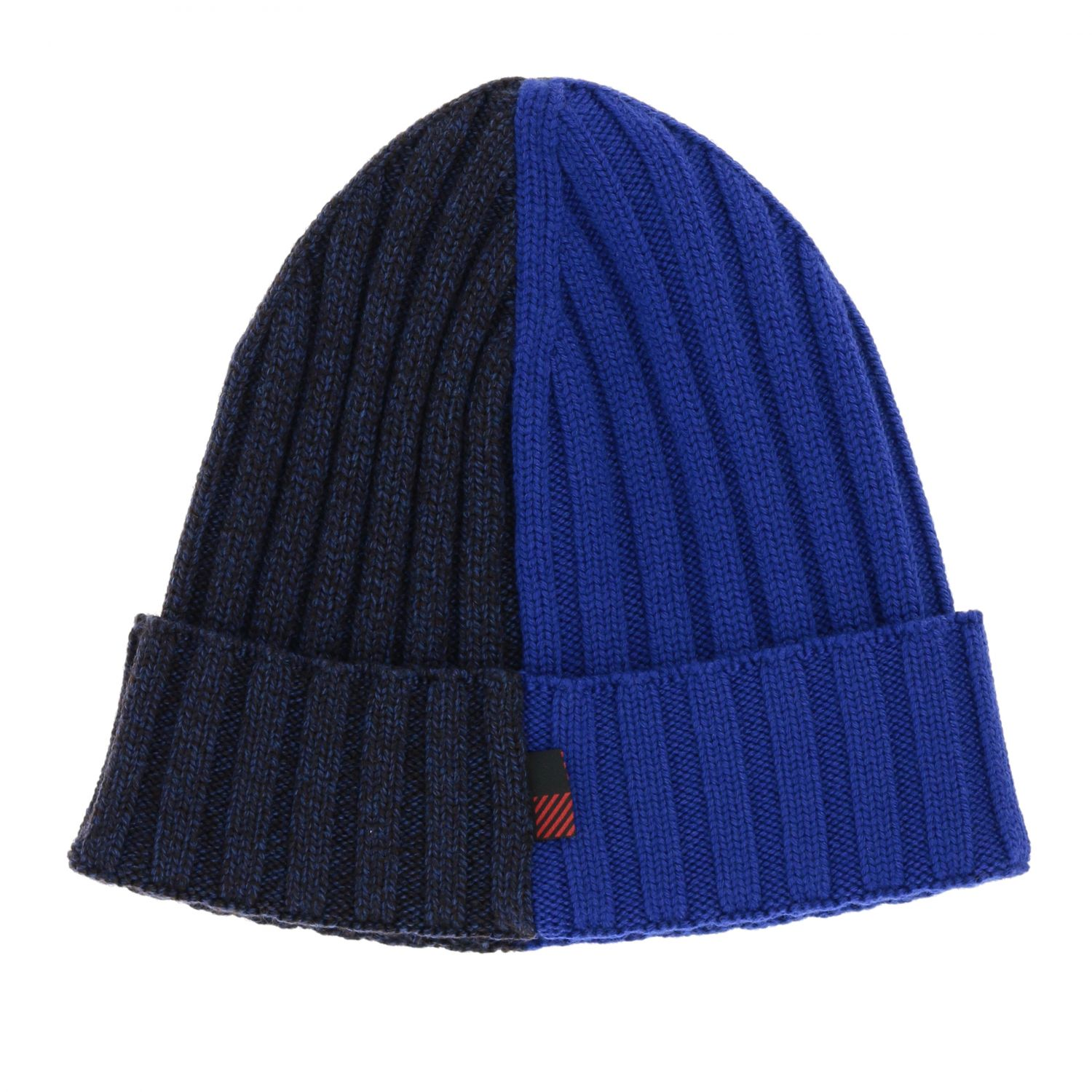 Cappello Woolrich effetto bicolor a coste blue 2