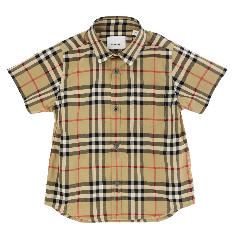 Camicia Burberry: Camicia Burberry in cotone check beige 1
