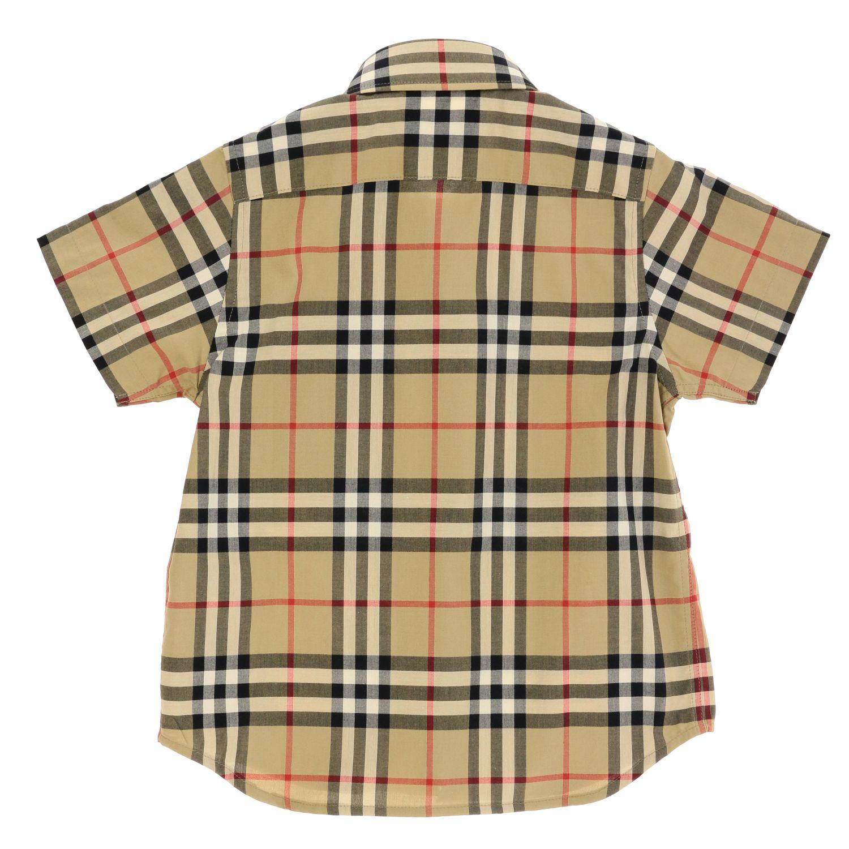 Camicia Burberry: Camicia Burberry in cotone check beige 2