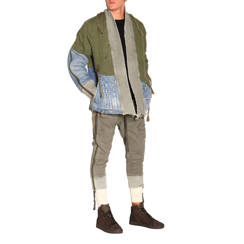 Куртка Greg Lauren: Куртка Мужское Greg Lauren зеленый 2