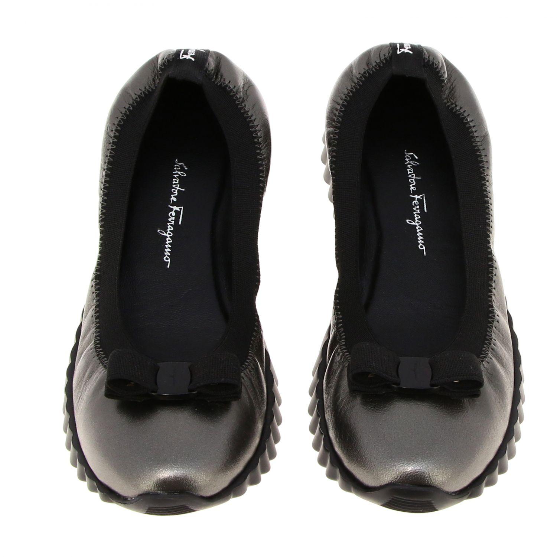 Sneakers donna Salvatore Ferragamo antracite 3