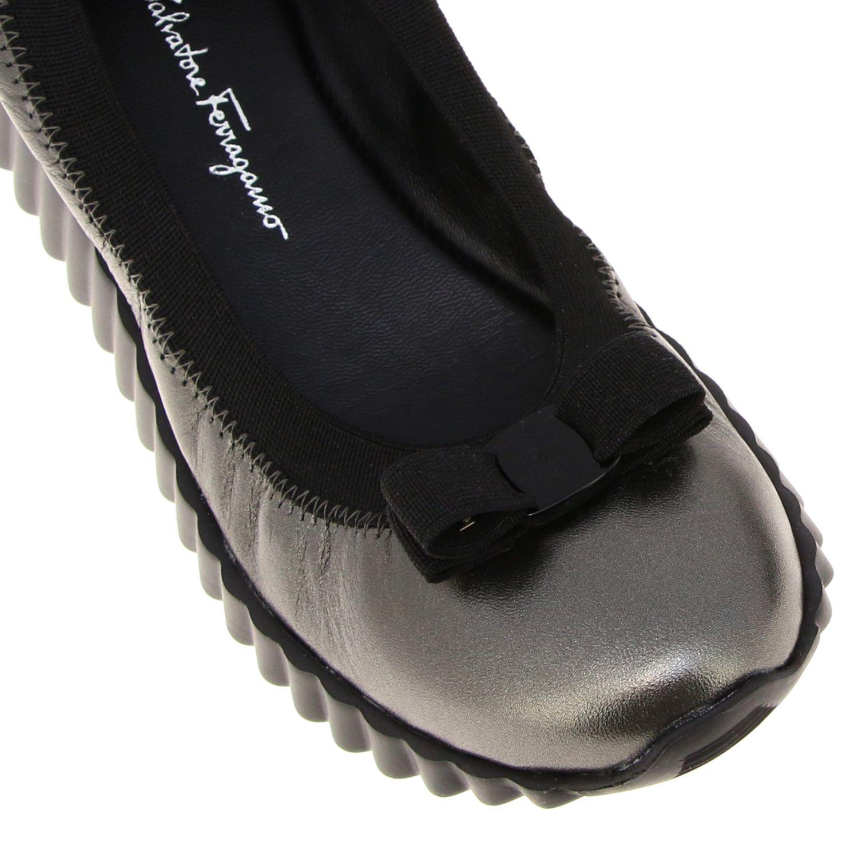 Sneakers donna Salvatore Ferragamo antracite 4