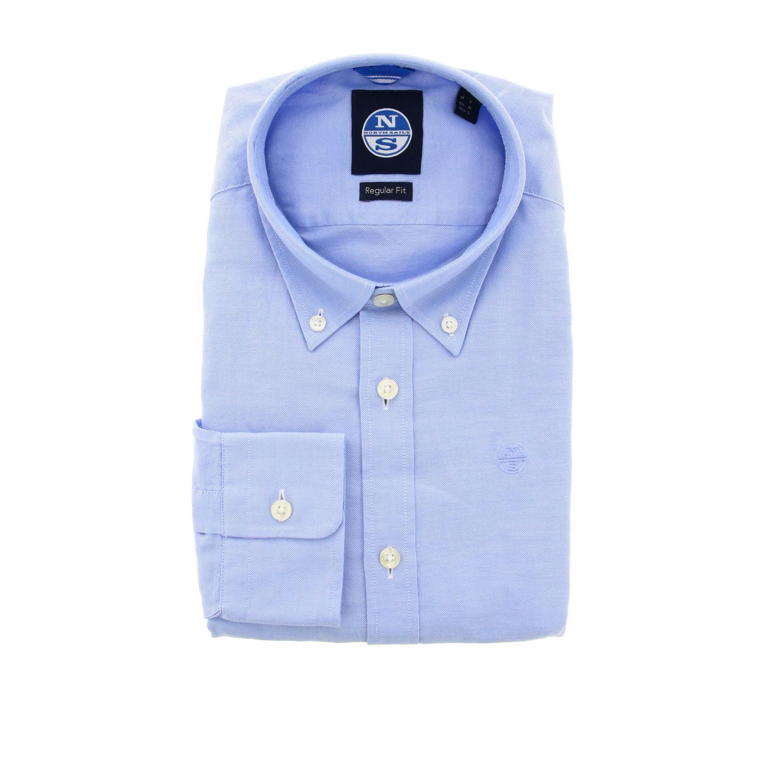 Camicia North Sails: Camicia North Sails con collo button down celeste 1