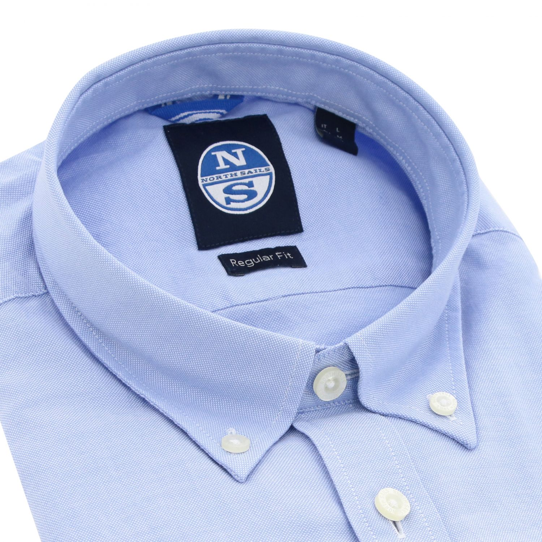 Camicia North Sails: Camicia North Sails con collo button down celeste 2